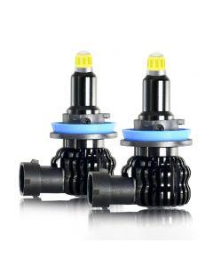 2 pezzi H1 H7 H11 LED lampadina fendinebbia per auto 8 lati 360 gradi H8 H3 9005 9006 12V 6000K per faro automatico