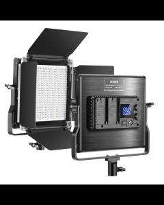 Neewer Pannello LED bicolore dimmerabile con luce video a 660 LED aggiornato con schermo LCD per la fotografia di riprese video
